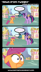 Size: 900x1573 | Tagged: artist:overmare, comic, safe, scootaloo, scootaloo can't fly, twilight sparkle
