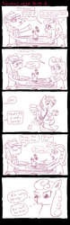 Size: 1024x3300 | Tagged: safe, artist:ficficponyfic, braeburn, carrot top, derpy hooves, dinky hooves, golden harvest, pegasus, pony, carrotburn, comic, derpyburn, female, mare, shipping, there's something about derpy