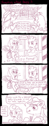 Size: 1024x2610 | Tagged: safe, artist:ficficponyfic, braeburn, carrot top, cup cake, derpy hooves, golden harvest, pegasus, pony, carrotburn, comic, derpyburn, female, male, mare, shipping, straight, there's something about derpy