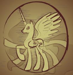 Size: 880x907   Tagged: safe, artist:pipersack, alicorn, pony, classic art, fine art parody, leonardo da vinci, parody, solo, vitruvian man