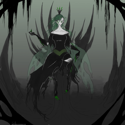 Size: 1667x1667 | Tagged: artist:php15, changeling, humanized, queen chrysalis, safe, winged humanization
