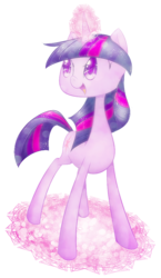 Size: 590x1020 | Tagged: safe, artist:praelie, twilight sparkle, female, magic circle, solo