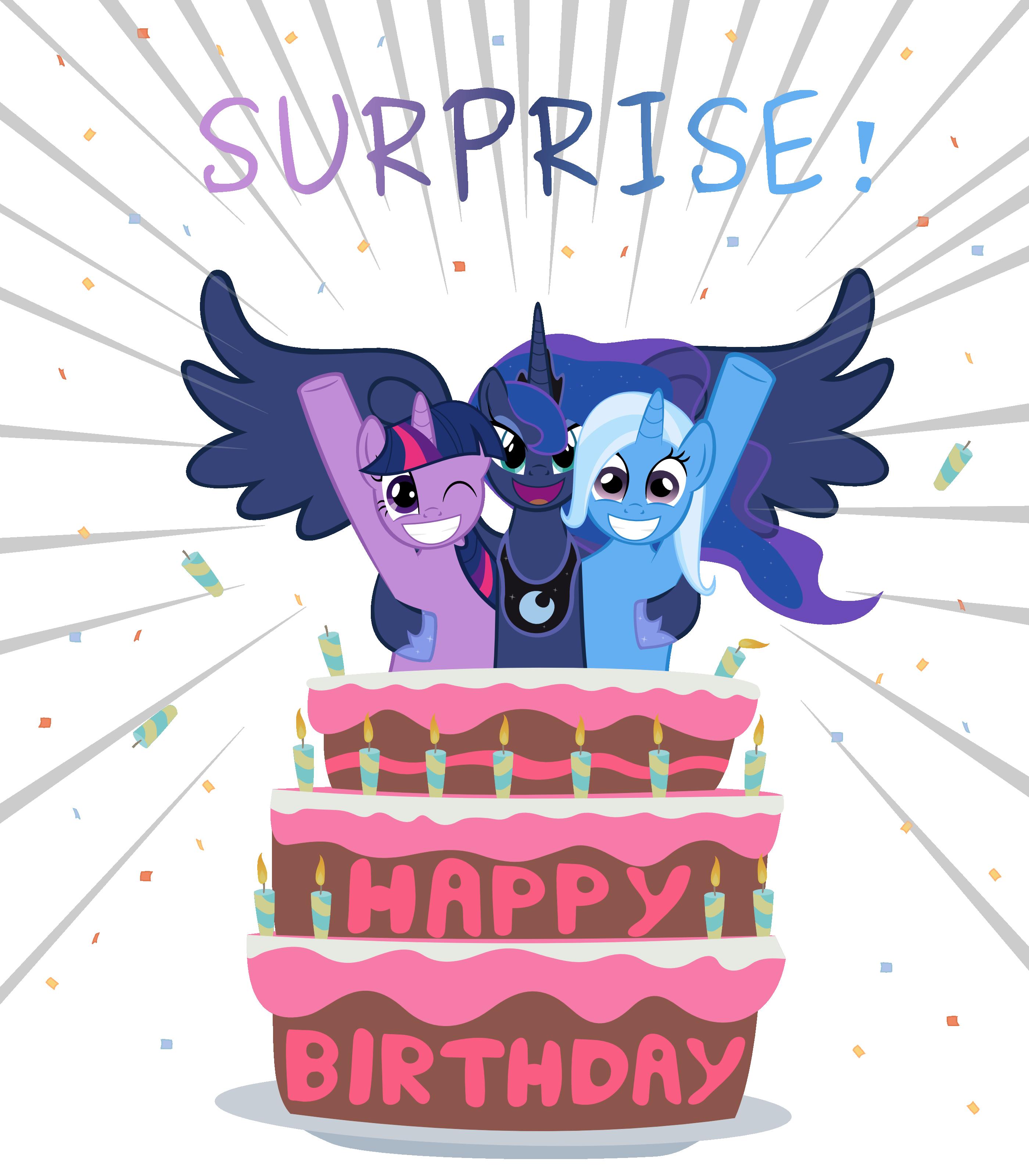 Поздравления с днем рождения с пони