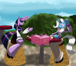 Size: 2200x1900 | Tagged: anthro, artist:m a c d, safe, trixie, twilight sparkle