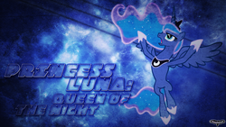 Size: 1920x1080 | Tagged: artist:utterlyludicrous, princess luna, safe, text, vector, wallpaper