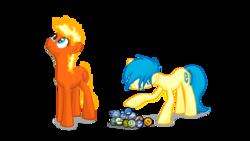 Size: 1415x800 | Tagged: safe, artist:parallaxmlp, oc, oc:internet explorer, browser ponies, emoticon, firefox, internet browser, internet explorer, ponified
