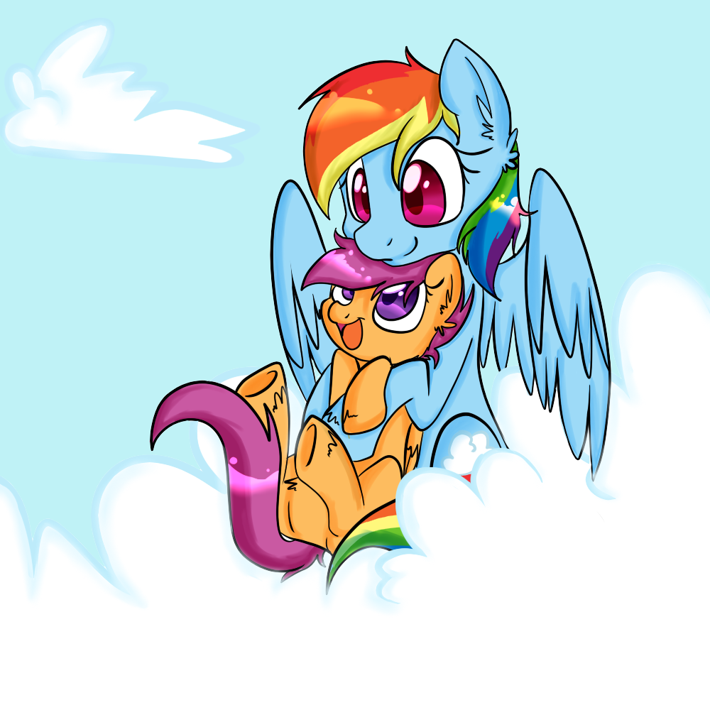 Rainbow Dash And Scootaloo Hug Scootaloo Rainbow Dash Pics