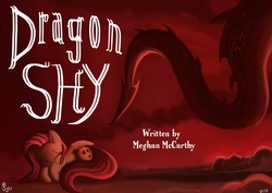 Size: 3508x2480 | Tagged: safe, artist:jowybean, basil, fluttershy, dragon, dragonshy, title card