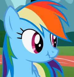 Size: 741x768   Tagged: safe, screencap, rainbow dash, pegasus, pony, female, mare, scrunchy face, solo