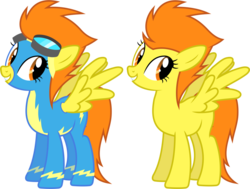 Size: 1028x776   Tagged: safe, artist:90sigma, blaze, pegasus, pony, background pony, clothes, female, goggles, mare, simple background, solo, spread wings, transparent background, uniform, wings, wonderbolts, wonderbolts uniform