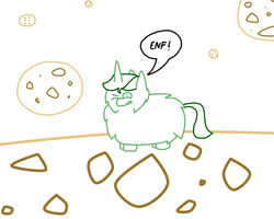 Size: 1280x1024 | Tagged: safe, fluffy pony, cookie, fluffy pony original art, martini, moon, solo, wink