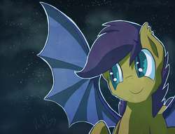 Size: 7259x5535 | Tagged: safe, artist:darkflame75, scootaloo, bat pony, pony, bat ponified, female, filly, race swap, scootabat, solo
