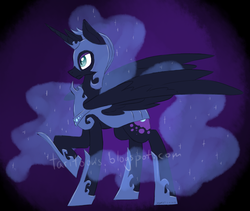 Size: 900x759 | Tagged: safe, artist:taritoons, nightmare moon, solo