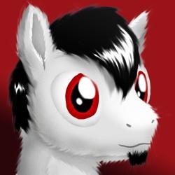 Size: 528x528 | Tagged: safe, artist:syntaxbananaz, oc, oc only, pony, facial hair, goatee, male, solo, stallion