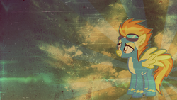 Size: 2049x1152 | Tagged: safe, artist:issyrael, artist:madblackie, spitfire, goggles, solo, vector, wallpaper, wonderbolts uniform