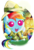 Size: 1197x1755 | Tagged: safe, artist:ruhisu, daring do, rainbow dash, pegasus, pony, baby, baby dash, baby pony, candy, clothes, costume, cute, daring do costume, dashabetes, female, filly, filly rainbow dash, foal, halloween, happy, holiday, jack-o-lantern, nightmare night, open mouth, pumpkin, signature, solo