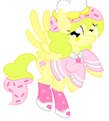 Size: 4208x4680 | Tagged: absurd res, artist:scratch-e-digital, cupcake, food, food pony, oc, oc only, original species, pegasus, safe, simple background, solo, sprinkles, transparent background, vector
