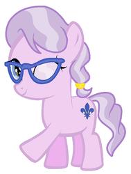 Size: 313x413 | Tagged: safe, artist:unoriginai, oc, oc only, earth pony, pony, magical lesbian spawn, offspring, parent:diamond tiara, parent:silver spoon, parents:silvertiara, solo
