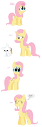 Size: 1568x4744 | Tagged: alicorn, alicornified, all pony races, angel bunny, artist:pupster0071, brushie, earth pony, fluttercorn, fluttershy, magic, pony, race swap, safe, unicorn