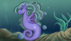 Size: 1280x737 | Tagged: safe, artist:resynchronoised, oc, oc only, sea pony, solo, underwater