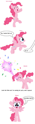 Size: 1648x5684 | Tagged: alicorn, alicornified, alicorn party, all pony races, artist:pupster0071, bipedal, magic, pegasus, pinkiecorn, pinkie pie, pony, race swap, safe, speech bubble, unicorn, xk-class end-of-the-world scenario