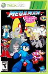 Size: 964x1497   Tagged: safe, artist:sonic10974, applejack, discord, fluttershy, pinkie pie, rainbow dash, rarity, tom, twilight sparkle, friendship is magic, box art, capcom, crossover, discorded, dr. light, dr. wily, eyes, game cover, hasbro, mane six, megaman, proto man, rush, video game, xbox 360