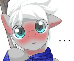 Size: 720x603 | Tagged: safe, artist:tarenest, oc, oc only, oc:zephyr wing, blushing, cosplay, cute, jack frost, solo