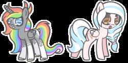 Size: 1096x543   Tagged: safe, artist:sandra626, oc, oc only, oc:bubblegum face, oc:rainbow star, alicorn, pegasus, pony, alicorn oc, commission