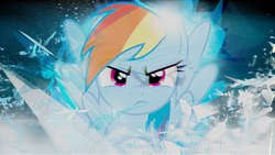 Size: 1920x1080   Tagged: safe, artist:adrianimpalamata, rainbow dash, angry, female, solo, vector, wallpaper