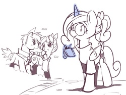Size: 850x640   Tagged: safe, artist:ende26, princess cadance, ask high school cadance, aerith gainsborough, cloud strife, crossover, final fantasy, final fantasy vii, ponified, shipper on deck, shipping