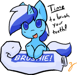 Size: 580x567   Tagged: safe, artist:zutcha, minuette, cute, female, solo, toothpaste