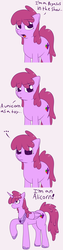 Size: 780x3120 | Tagged: safe, artist:skoon, berry punch, berryshine, alicorn, pony, ask berry punch, ask, berrycorn, solo