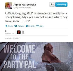 Size: 514x503 | Tagged: safe, agnes garbowska, die hard, text, twitter