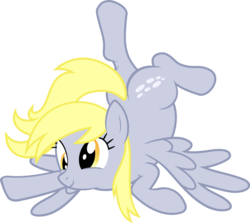 Size: 5279x4706 | Tagged: absurd res, artist:abydos91, commission, cute, derp, derpabetes, derping, derpy hooves, female, happy, mare, pegasus, plot, pony, safe, silly, simple background, solo, transparent background, vector