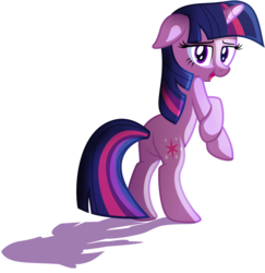 Size: 4221x4345 | Tagged: safe, artist:discorded, twilight sparkle, pony, unicorn, absurd resolution, bedroom eyes, bipedal, cute, female, floppy ears, mare, plot, show accurate, simple background, solo, transparent background, vector