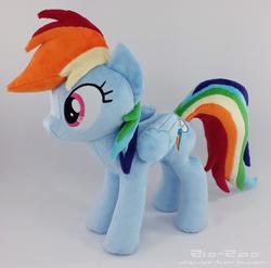 Size: 2283x2260 | Tagged: safe, artist:zizzaz, rainbow dash, irl, photo, plushie, solo