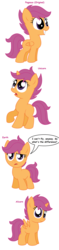 Size: 936x3944 | Tagged: safe, artist:pupster0071, scootaloo, alicorn, earth pony, pony, unicorn, alicornified, all pony races, cute, cutealoo, frown, grin, looking at you, looking up, open mouth, race swap, raised hoof, scootacorn, scootaloo can't fly, simple background, smiling, squee, surprised, unamused, weapons-grade cute, white background, wide eyes