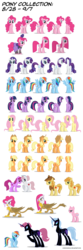 Size: 1500x4500 | Tagged: safe, artist:mixermike622, applejack, berry punch, berryshine, braeburn, fluttershy, gilda, nightmare moon, nurse redheart, pinkie pie, rainbow dash, rarity, scootaloo, trixie, twilight sparkle, griffon, absurd resolution, alternate hairstyle, bald, clothes, dress, mane six, nightmare scootaloo, nightmare trixie, nightmarified, pinkamena diane pie, saloon dress, saloon pinkie