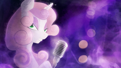 Size: 3200x1800   Tagged: safe, artist:shaadorian, sweetie belle, eyeshadow, microphone, older, solo