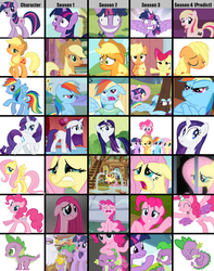 Size: 1300x1650   Tagged: safe, edit, edited screencap, screencap, applejack, fluttershy, gilda, pinkie pie, rainbow dash, rarity, spike, twilight sparkle, alicorn, dragon, earth pony, griffon, pegasus, pony, unicorn, a bird in the hoof, apple family reunion, applebuck season, baby cakes, dragonshy, griffon the brush off, hurricane fluttershy, lesson zero, look before you sleep, magical mystery cure, party of one, ponyville confidential, read it and weep, season 1, season 2, season 3, season 4, sisterhooves social, swarm of the century, the super speedy cider squeezy 6000, cropped, crying, dem feels, female, fluttercry, hilarious in hindsight, male, mane seven, mane six, mare, meghan mccarthy, meme, meta, ocular gushers, pinkie cry, rain, sadjack, speculation, spikeabuse, stock vector, tears of joy, twilight snapple, twilight sparkle (alicorn), unicorn twilight, wet, wet mane, wet mane rarity