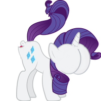 Size: 200x200 | Tagged: safe, rarity, pony, unicorn, buttface, female, mare, mouthbutt, plot, simple background, solo, transparent background, wat, why