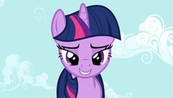 Size: 1920x1080 | Tagged: safe, screencap, twilight sparkle, unicorn, lesson zero, female, lidded eyes, lip bite, out of context, solo, unicorn twilight