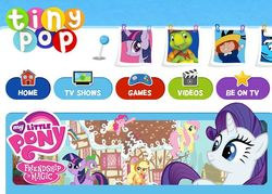 Size: 628x450   Tagged: safe, applejack, fluttershy, pinkie pie, rainbow dash, rarity, spike, twilight sparkle, faic, mane six, my little pony logo, tiny pop