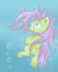 Size: 1700x2100 | Tagged: safe, artist:spikedmauler, fluttershy, solo, underwater, watershy