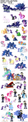 Size: 1500x6500 | Tagged: safe, artist:mixermike622, applejack, berry punch, berryshine, big macintosh, cheerilee, discord, doctor whooves, fancypants, fleur-de-lis, gilda, mare do well, minuette, nightmare moon, nurse redheart, photo finish, princess celestia, princess luna, rarity, ruby pinch, sapphire shores, scootaloo, sweetie belle, time turner, twilight sparkle, zecora, bat pony, griffon, human, pony, zebra, baby, baby pony, chariot, clothes, costume, crossover, dan, dan vs, dress, fainting couch, feather, filly, hat, luna's chariot, riding, simple background, sleeping, syringe, taco, taco belle, taco twilight, transparent background, tron, younger