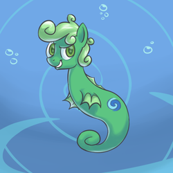 Size: 500x500 | Tagged: safe, artist:yeendip, oc, oc only, sea pony, sky swimmer, solo, underwater