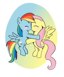 Size: 1000x1200 | Tagged: safe, artist:fangkittyartist, fluttershy, rainbow dash, blushing, couple, female, flutterdash, kissing, lesbian, shipping