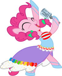 Size: 1542x1904   Tagged: safe, artist:nstone53, pinkie pie, clothes, dress, microphone, simple background, solo, transparent background, vector