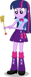 Size: 1585x3923 | Tagged: safe, artist:synch-anon, artist:twiforce, twilight sparkle, equestria girls, princess twilight sparkle (episode), season 4, edited vector, simple background, solo, transparent background, twilight scepter, vector