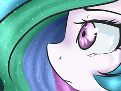 Size: 1600x1200 | Tagged: safe, artist:sugarberry, princess celestia, close-up, extreme close up, female, solo